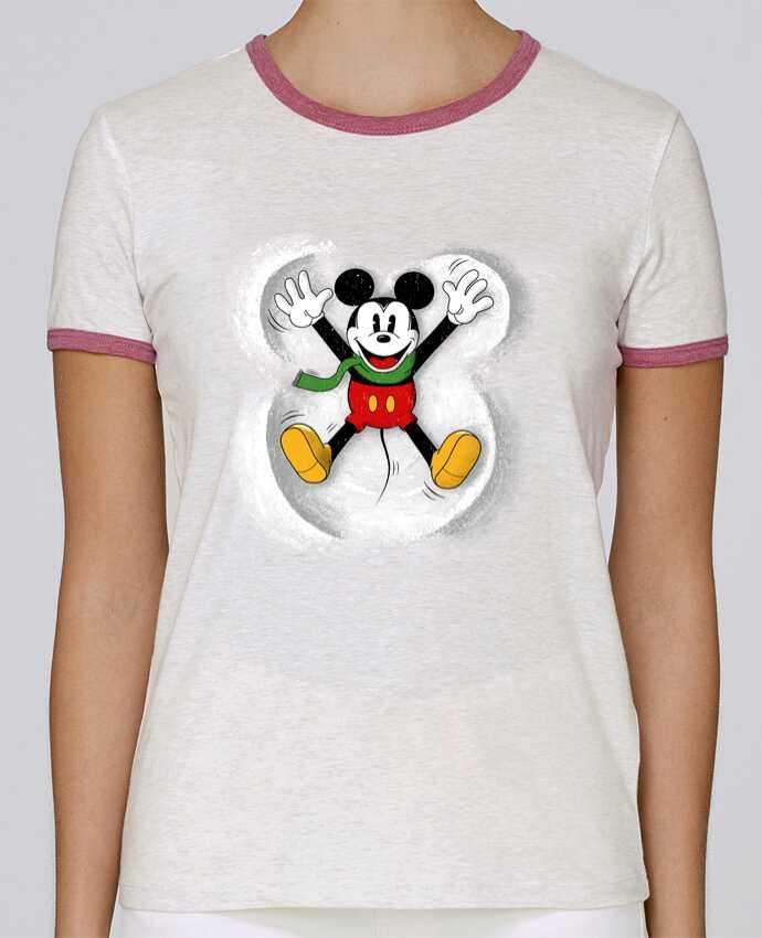 Camiseta Mujer Stella Returns Mickey in snow pour femme por Florent Bodart