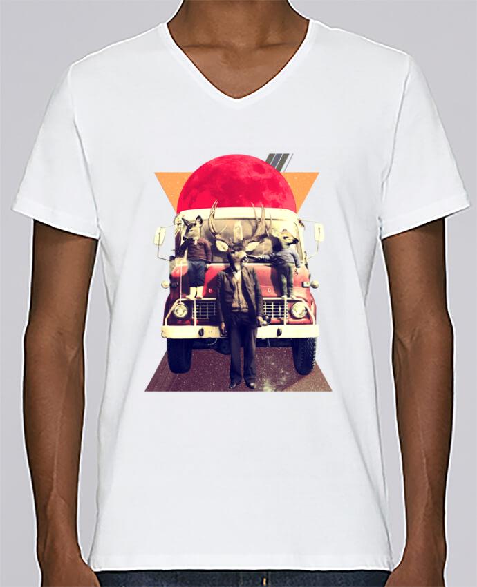 Camiseta Hombre Cuello en V Stanley Relaxes El camion por ali_gulec