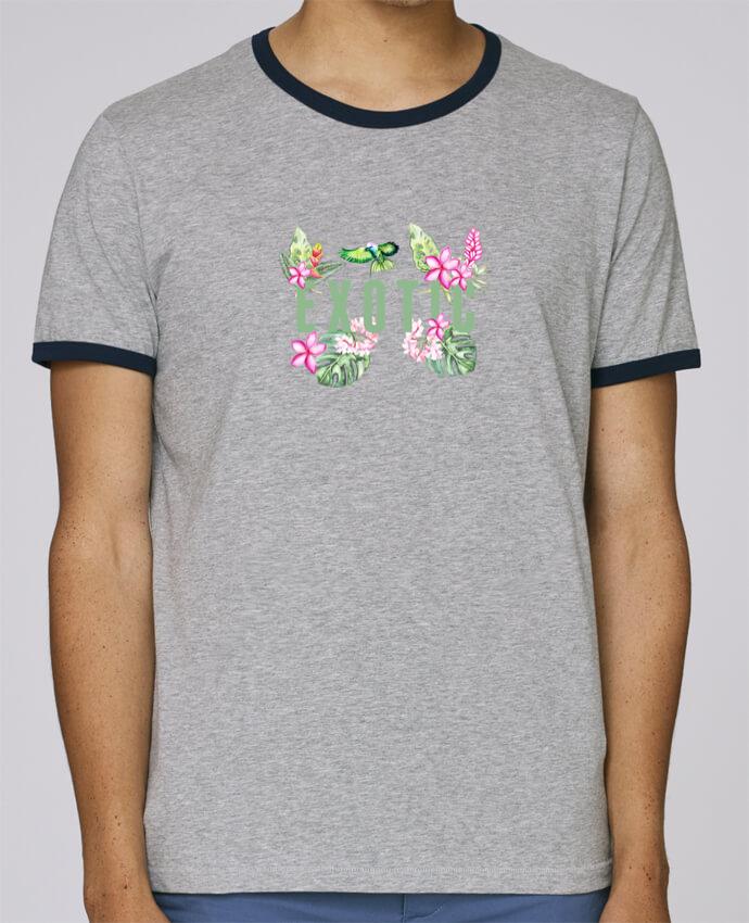 Camiseta Bordes Contrastados Hombre Stanley Holds Exotic pour femme por Les Caprices de Filles