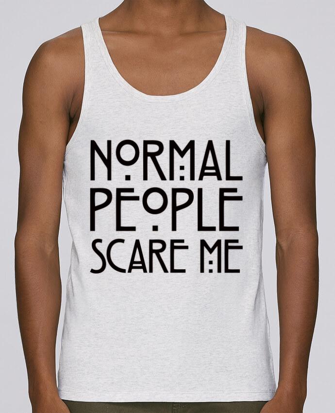Camiseta de tirantes algodón orgánico hombre Stanley Runs Normal People Scare Me por Freeyourshirt.com 100% coton bio
