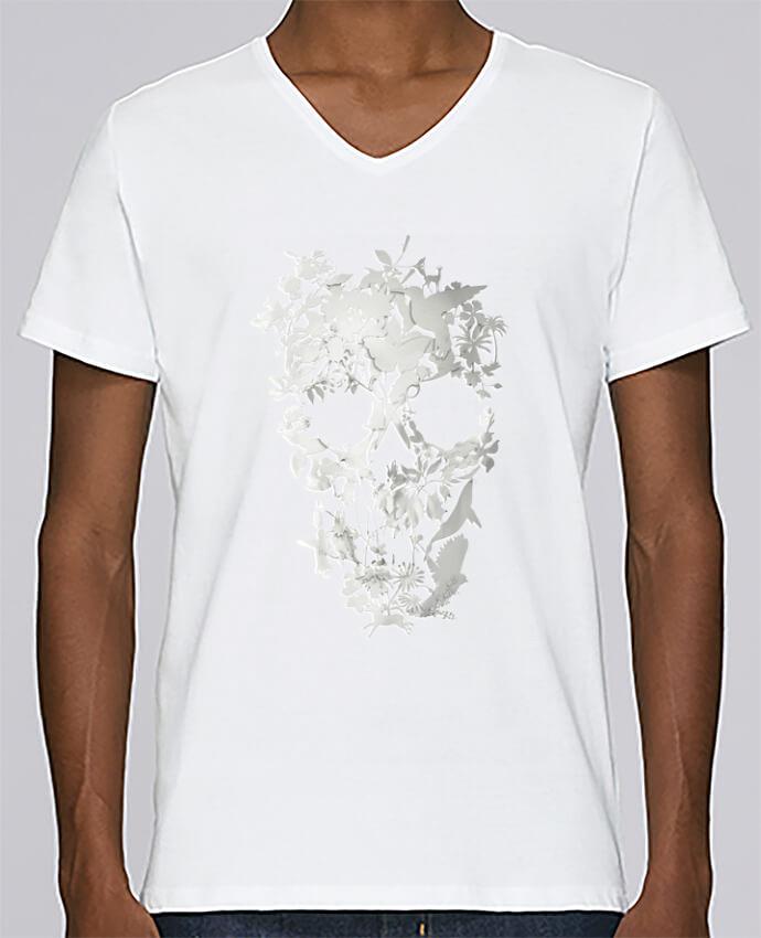 Camiseta Hombre Cuello en V Stanley Relaxes Simple Skull por ali_gulec