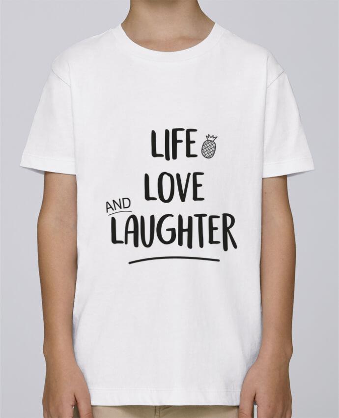 Camiseta de cuello redondo Stanley Mini Paint Life, love and laughter... por IDÉ'IN