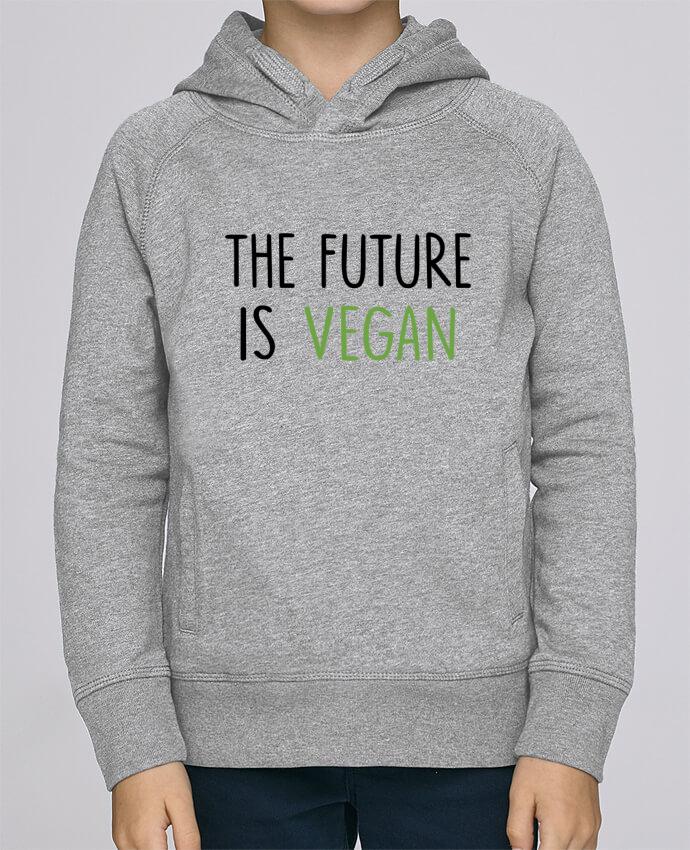 Sudadera de manga ranglan con capucha y bolsillo con vivo Niño Stanley Mini Base The future is vegan por Bichette