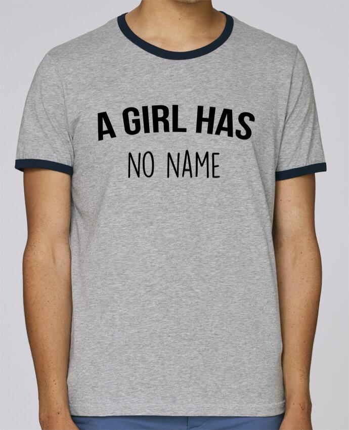Camiseta Bordes Contrastados Hombre Stanley Holds A girl has no name pour femme por Bichette