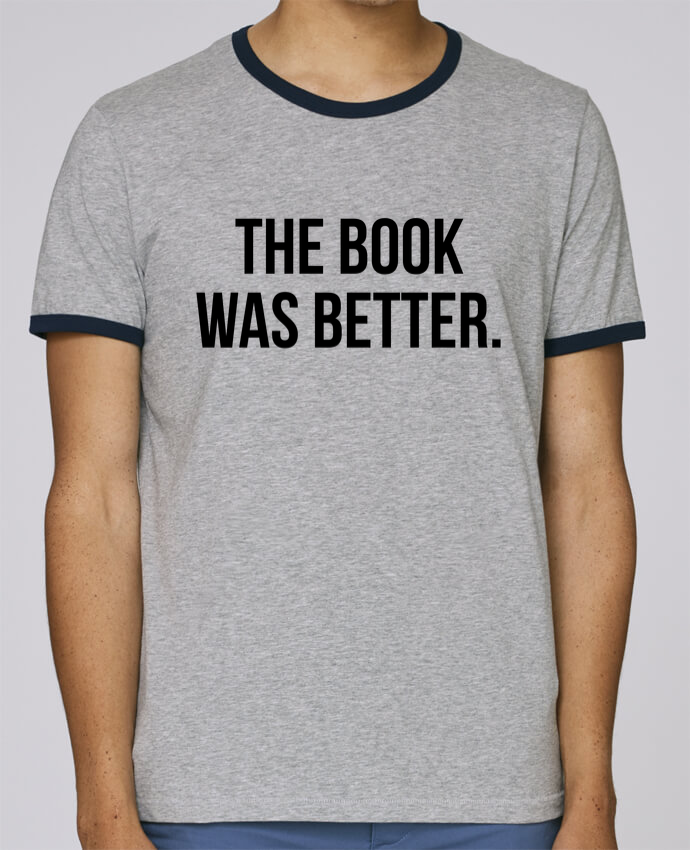Camiseta Bordes Contrastados Hombre Stanley Holds The book was better. pour femme por Bichette