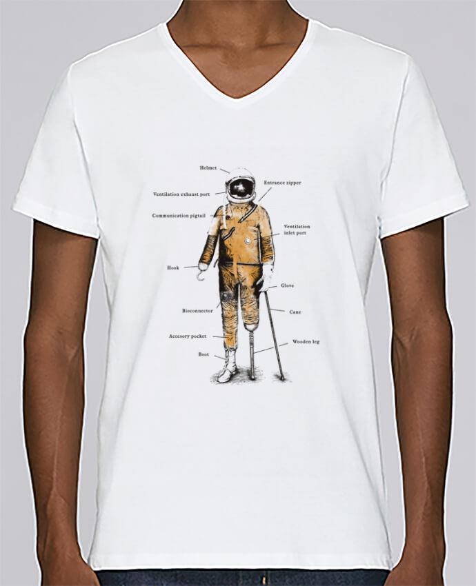 Camiseta Hombre Cuello en V Stanley Relaxes Astropirate with text por Florent Bodart