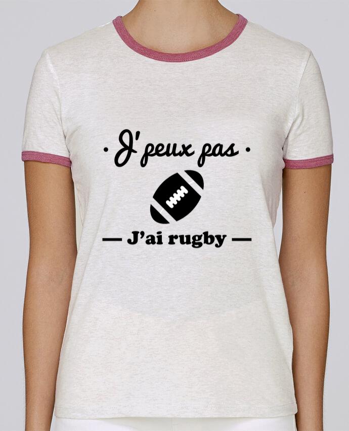 Camiseta Mujer Stella Returns J'peux pas j'ai rugby pour femme por Benichan