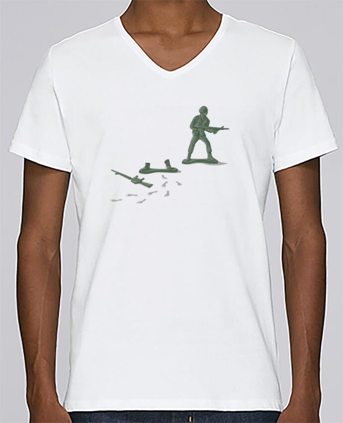 Camiseta Hombre Cuello en V Stanley Relaxes Deserter por flyingmouse365