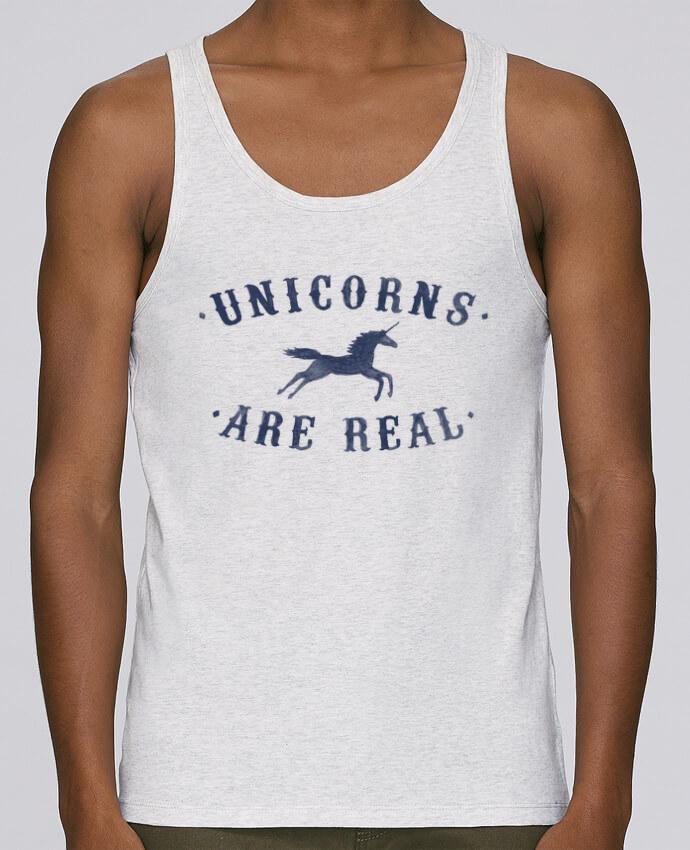 Camiseta de tirantes algodón orgánico hombre Stanley Runs Unicorns are real por Florent Bodart 100% coton bio