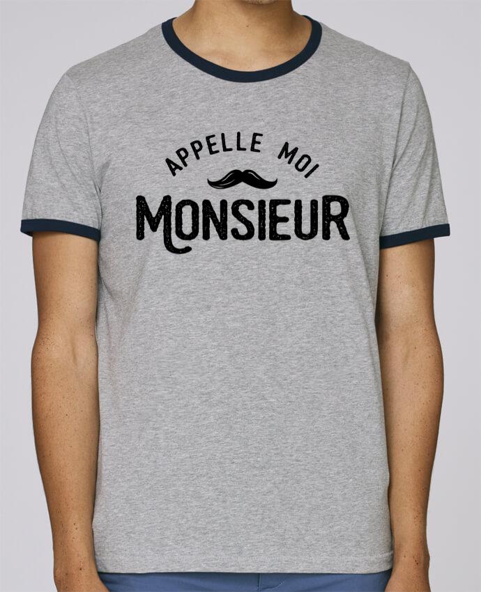 Camiseta Bordes Contrastados Hombre Stanley Holds Appelle moi monsieur pour femme por tunetoo