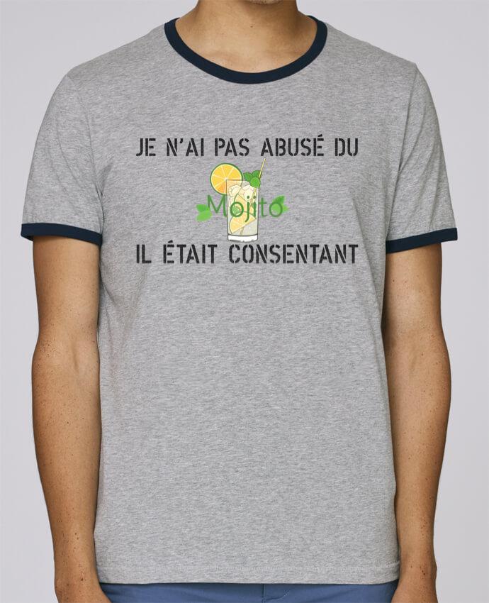 Camiseta Bordes Contrastados Hombre Stanley Holds Je n'ai pas abusé du mojito, il était consentant ! pour femme por tunetoo