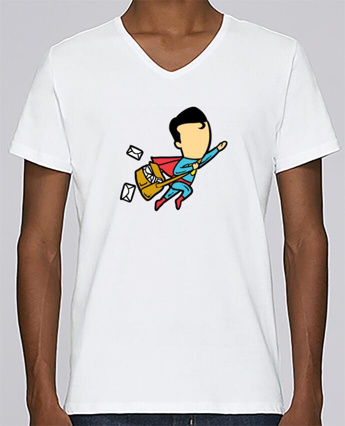 Camiseta Hombre Cuello en V Stanley Relaxes Post por flyingmouse365