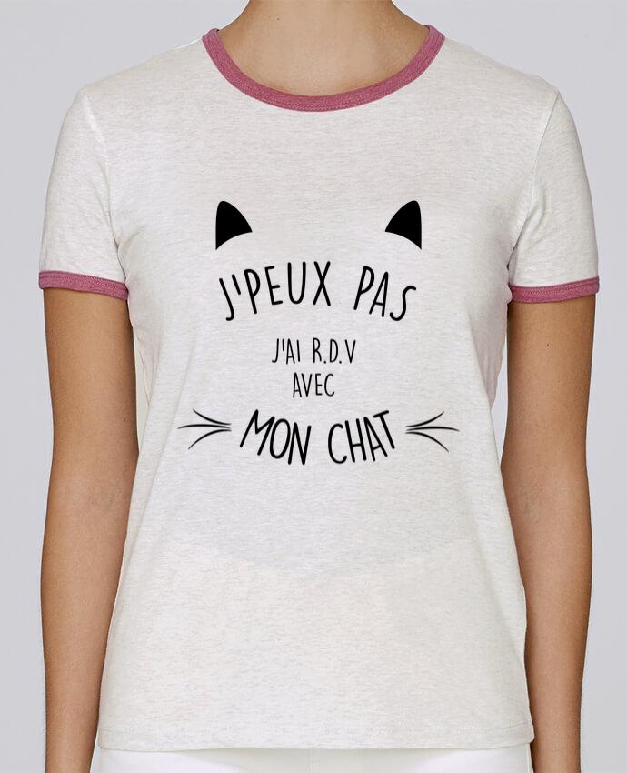 Camiseta Mujer Stella Returns J'peux pas j'ai R.D.V avec mon chat pour femme por LPMDL