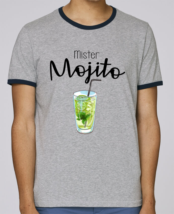 Camiseta Bordes Contrastados Hombre Stanley Holds Mister mojito pour femme por FRENCHUP-MAYO