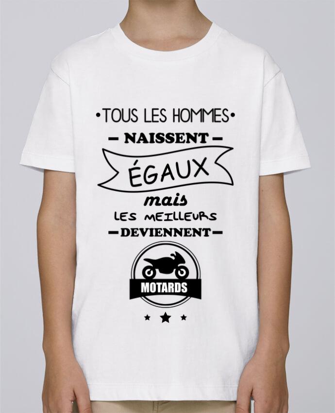 Camiseta de cuello redondo Stanley Mini Paint Tous les hommes ... les meilleurs deviennent motard, moto por Benichan