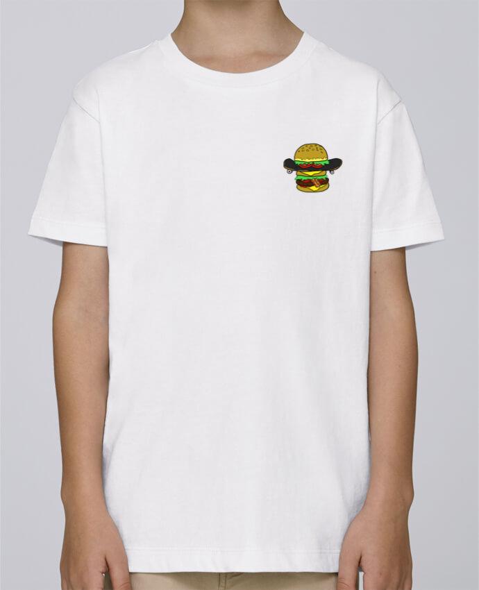 Camiseta de cuello redondo Stanley Mini Paint Skateburger por Salade