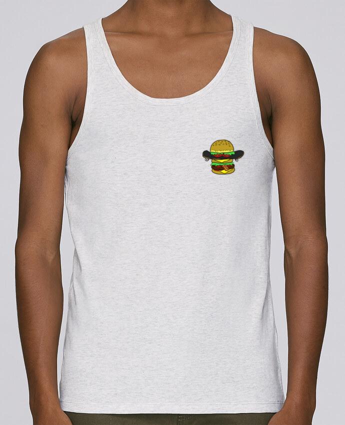 Camiseta de tirantes algodón orgánico hombre Stanley Runs Skateburger por Salade 100% coton bio