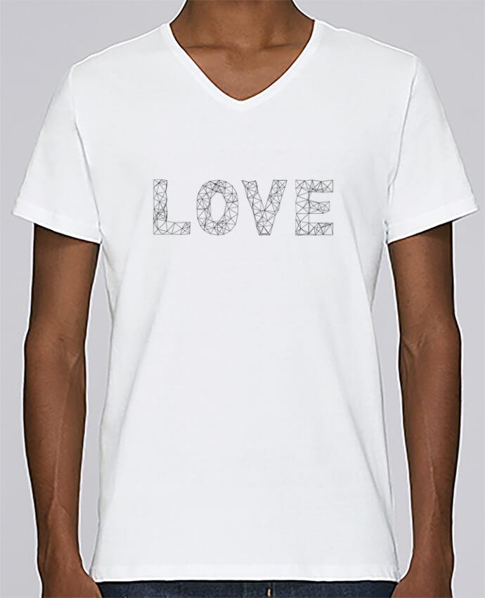 Camiseta Hombre Cuello en V Stanley Relaxes Love por na.hili