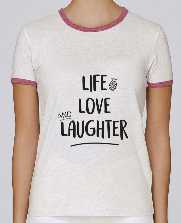 Camiseta Mujer Stella Returns Life, love and laughter... pour femme por IDÉ