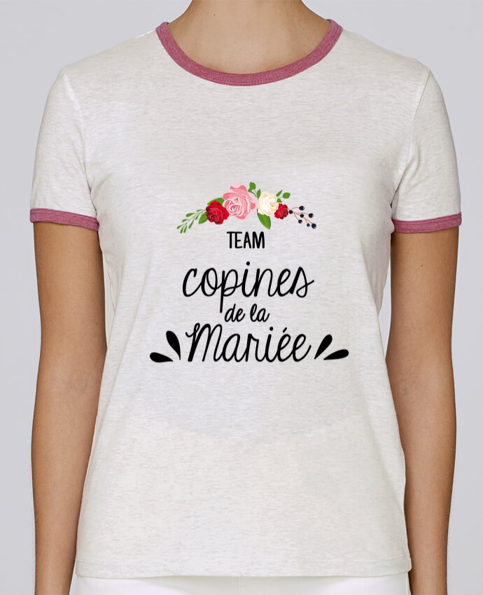 Camiseta Mujer Stella Returns TEAM COPINES DE LA MARIEE pour femme por FRENCHUP-MAYO