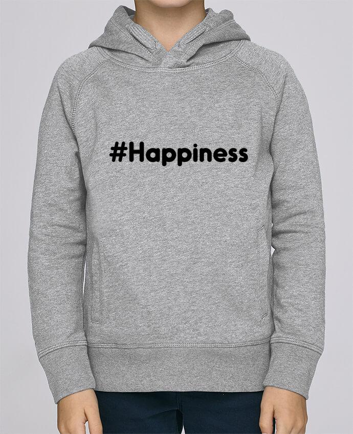 Sudadera de manga ranglan con capucha y bolsillo con vivo Niño Stanley Mini Base #Happiness por tunetoo