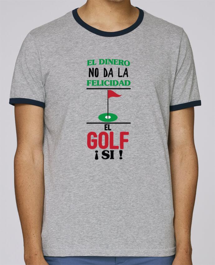 Camiseta Bordes Contrastados Hombre Stanley Holds El dinero no da la felicidad, el golf si ! pour femme por tunetoo