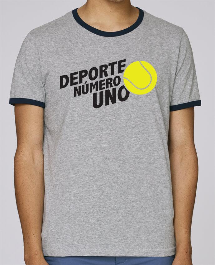 Camiseta Bordes Contrastados Hombre Stanley Holds Deporte Número Uno Tennis pour femme por tunetoo