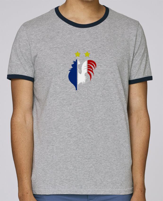 Camiseta Bordes Contrastados Hombre Stanley Holds Champion du monde 2018 ! pour femme por AkenGraphics