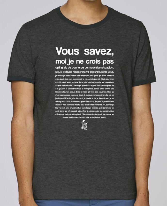 Camiseta Bordes Contrastados Hombre Stanley Holds Citation Scribe Astérix pour femme por tunetoo