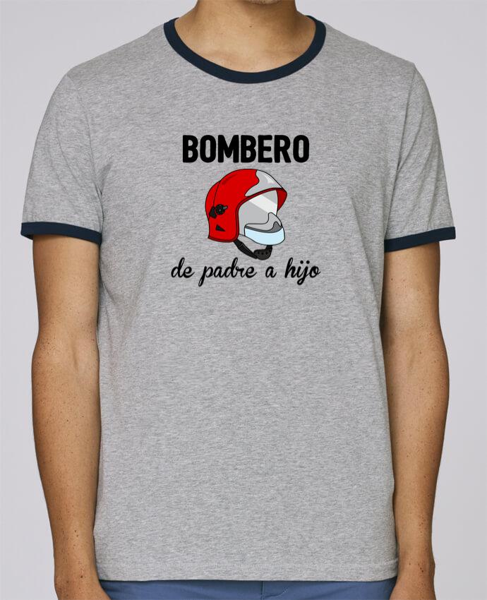 Camiseta Bordes Contrastados Hombre Stanley Holds Bombero de padre a hijo pour femme por tunetoo