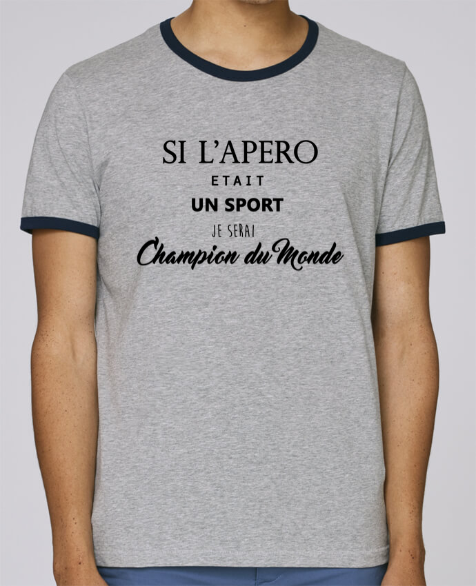 Camiseta Bordes Contrastados Hombre Stanley Holds apero foot pour femme por DesignMe
