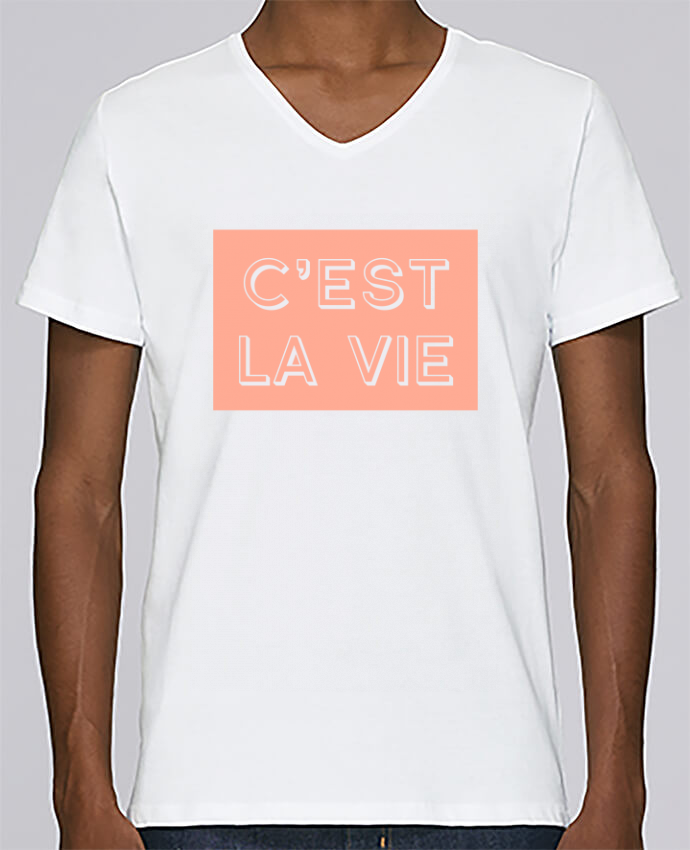 Camiseta Hombre Cuello en V Stanley Relaxes C'est la vie por tunetoo