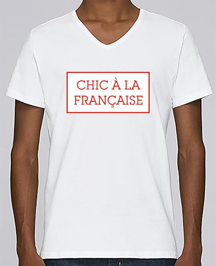 Camiseta Hombre Cuello en V Stanley Relaxes Chic à la française por tunetoo
