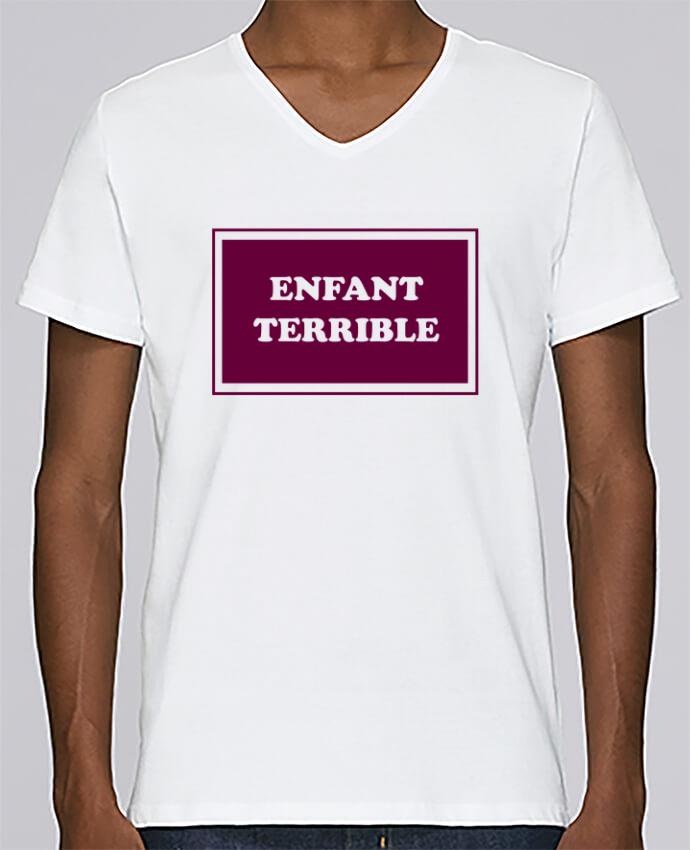 Camiseta Hombre Cuello en V Stanley Relaxes Enfant terrible por tunetoo