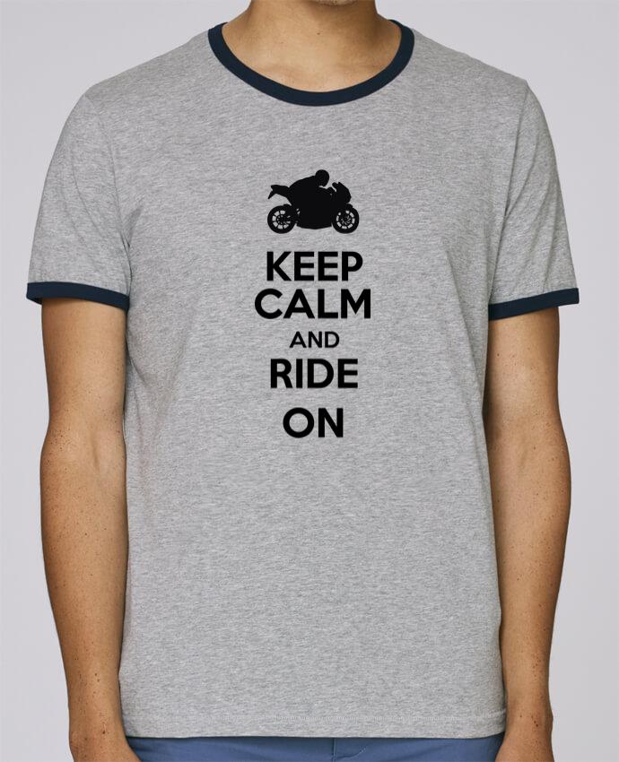 Camiseta Bordes Contrastados Hombre Stanley Holds Keep calm Moto pour femme por Original t-shirt
