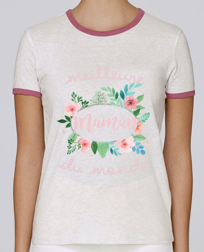 Camiseta Mujer Stella Returns Meilleure maman du monde pour femme por FRENCHUP-MAYO