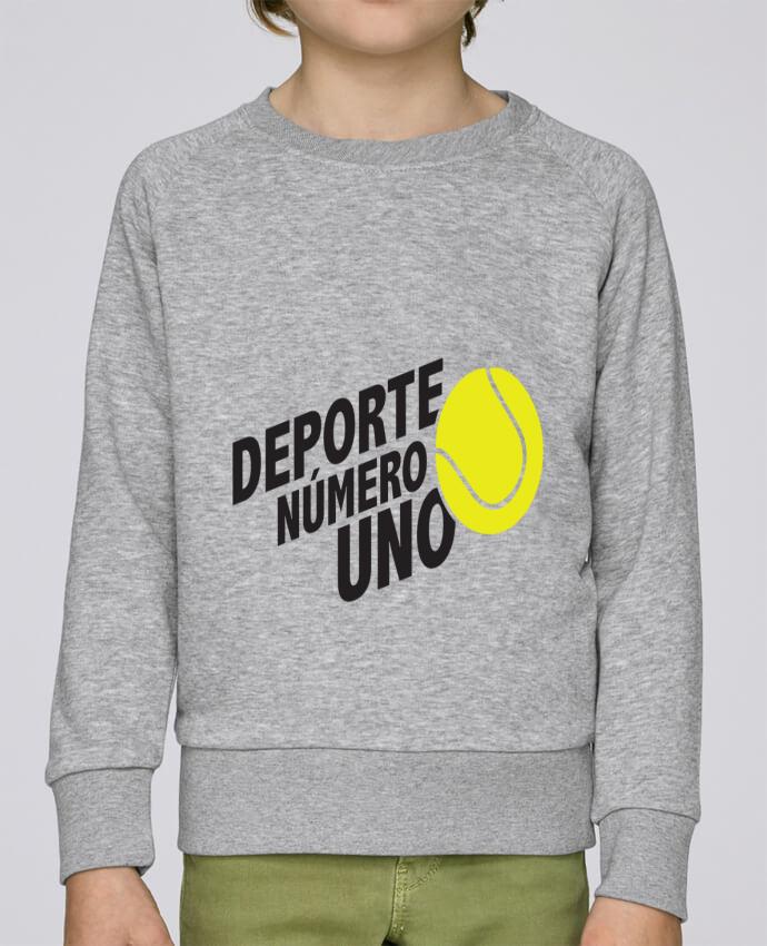 Sudadera Cuello Redondo Niño Stanley Mini Scouts Deporte Número Uno Tennis por tunetoo