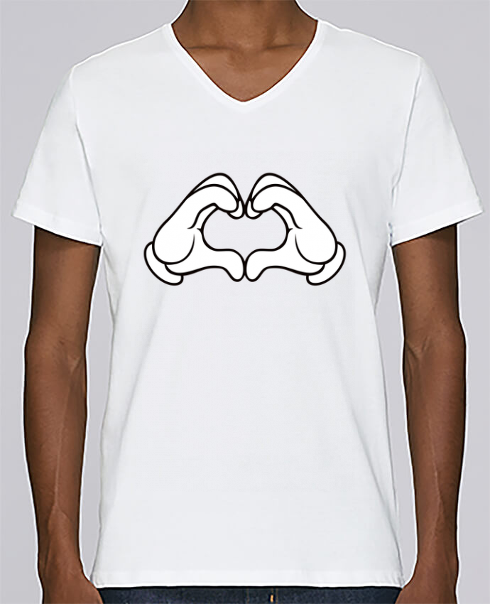 Camiseta Hombre Cuello en V Stanley Relaxes LOVE Signe por Freeyourshirt.com