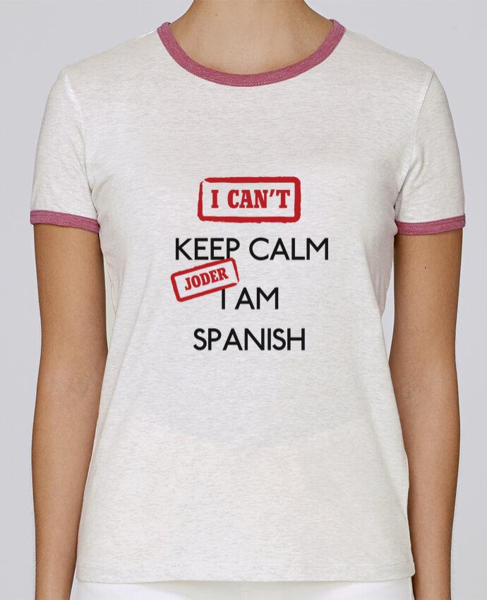 Camiseta Mujer Stella Returns I can't keep calm jorder I am spanish pour femme por tunetoo