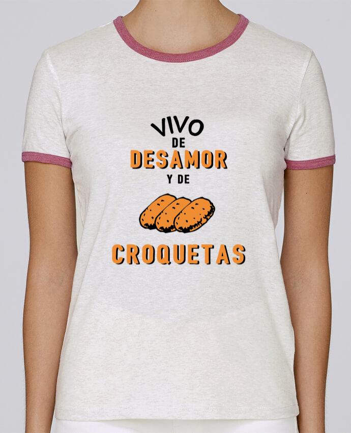 Camiseta Mujer Stella Returns Vivo de desamor y de croquetas pour femme por tunetoo