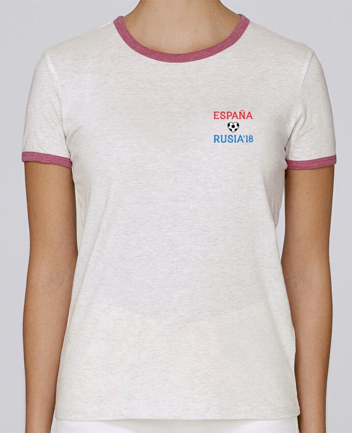 Camiseta Mujer Stella Returns España Rusia 2018 pour femme por tunetoo