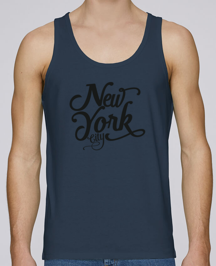 Camiseta de tirantes algodón orgánico hombre Stanley Runs New York City por justsayin 100% coton bio