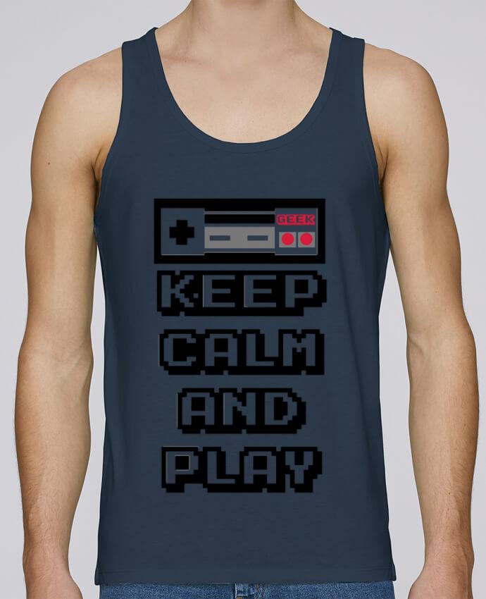 Camiseta de tirantes algodón orgánico hombre Stanley Runs KEEP CALM AND PLAY por SG LXXXIII 100% coton bio