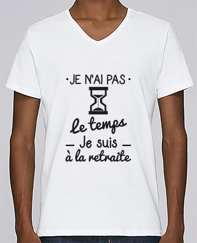 Camiseta Hombre Cuello en V Stanley Relaxes Pas le temps, je suis à la retraite, tee shirt retraité por Benichan
