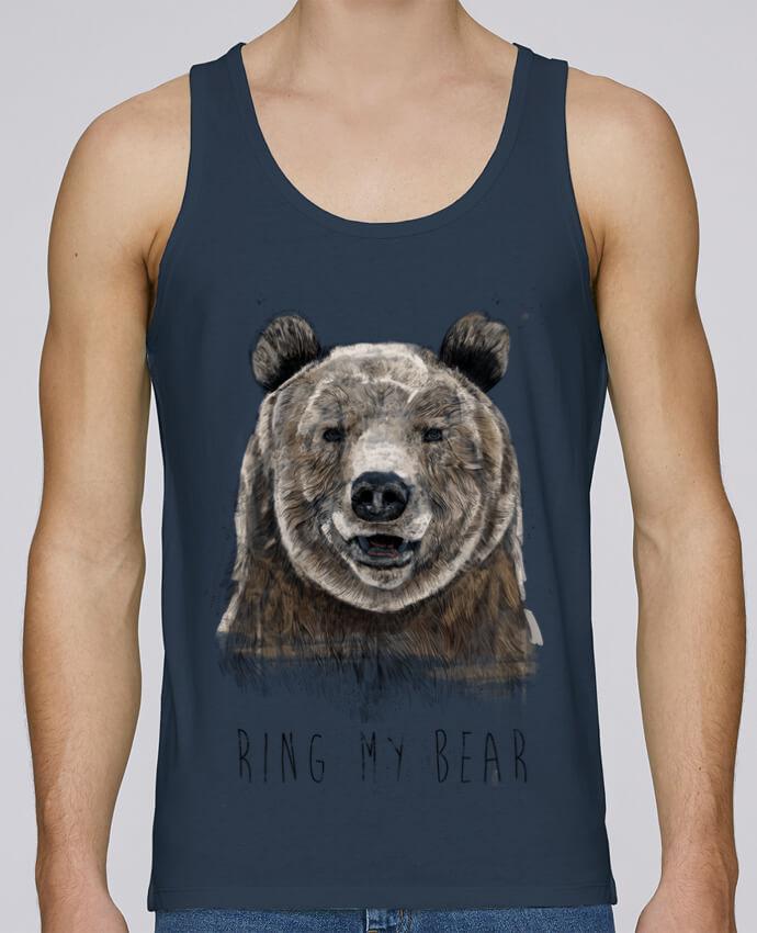 Camiseta de tirantes algodón orgánico hombre Stanley Runs Ring my bear por Balàzs Solti 100% coton bio
