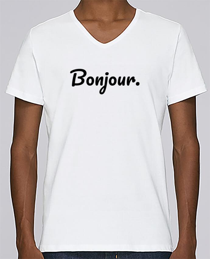 Camiseta Hombre Cuello en V Stanley Relaxes Bonjour. por tunetoo