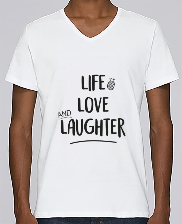 Camiseta Hombre Cuello en V Stanley Relaxes Life, love and laughter... por IDÉ'IN