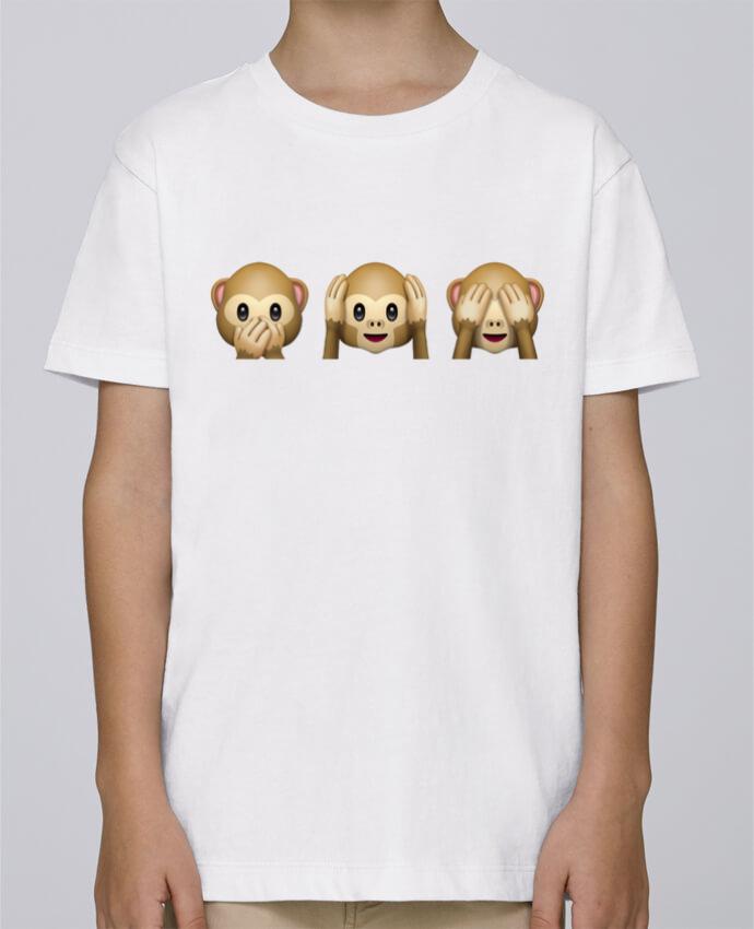 Camiseta de cuello redondo Stanley Mini Paint Three monkeys por Bichette