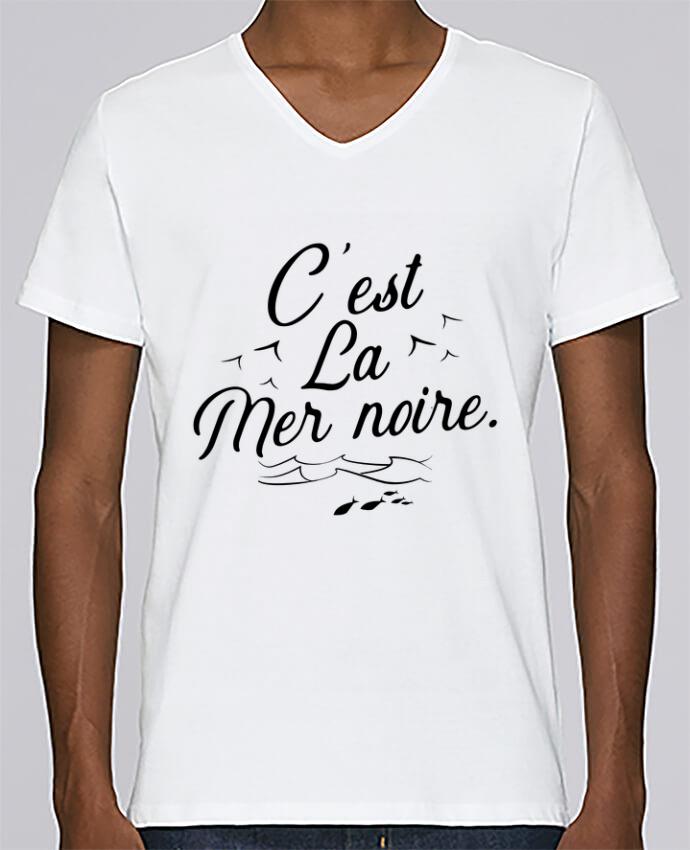 Camiseta Hombre Cuello en V Stanley Relaxes C'est la mer noire por Original t-shirt