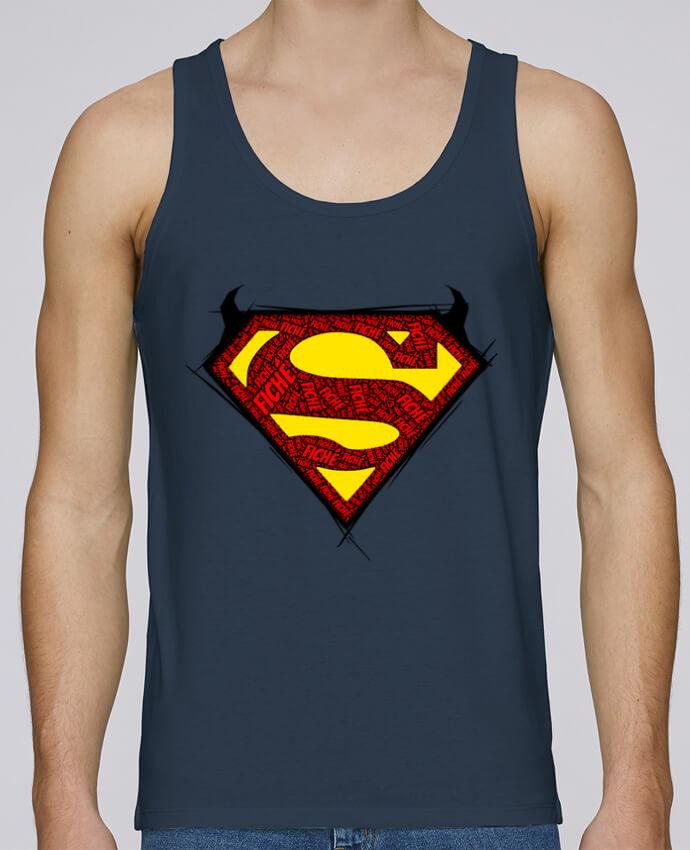 Camiseta de tirantes algodón orgánico hombre Stanley Runs Super Fiché por Dontuch 100% coton bio